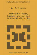Probability Theory  Random Processes and Mathematical Statistics