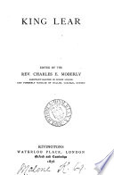 King Lear  ed  by C E  Moberly Book