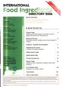International Food Ingredients Directory Book