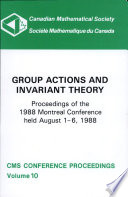 Group Actions and Invariant Theory Book
