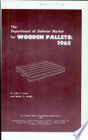 The Department of Defense Market for Wooden Pallets, 1965
