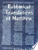 Rabbinical Translations Of Matthew