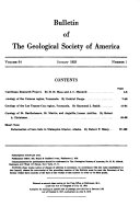 Pdf Bulletin of the Geological Society of America