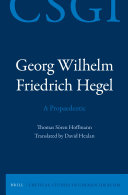 Georg Wilhelm Friedrich Hegel   A Propaedeutic
