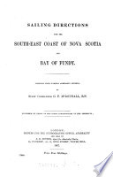 Sailing Directions for the South east Coast of Nova Scotia and Bay of Fundy