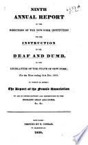 Communication From The Superintendent Of Common Schools Transmitting The Annual Report Relative To The Institution For The Instruction Of The Deaf And Dumb