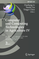 Pdf Computer and Computing Technologies in Agriculture IV