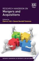Research Handbook On Mergers And Acquisitions Book PDF