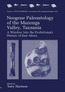 Pdf Neogene Paleontology of the Manonga Valley, Tanzania Telecharger