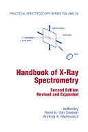 Handbook of X-Ray Spectrometry, Second Edition,