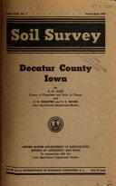 Soil Survey  Decatur County  Iowa