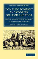 Domestic Economy  and Cookery  for Rich and Poor