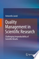 Quality Management in Scientific Research Book