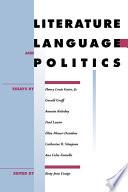 Literature Language And Politics