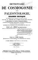 Encyclopédie théologique: Dictionnaire de cosomogonie et de paleontologie