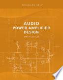 Audio Power Amplifier Design Book