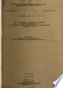 List Of Serials Currently Received In The Library Of The United States Department Of Agriculture Nov 1 1949