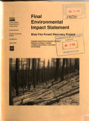 Modoc National Forest (N.F.), Blue Fire Forest Project ebook