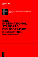 Pdf ISBD: International Standard Bibliographic Description Telecharger
