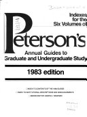 Peterson's Annual Guides to Graduate Study