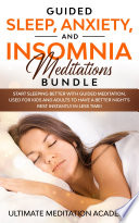 Guided Sleep  Anxiety  and Insomnia Meditations Bundle