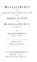 Weltgeschichte Zur Gründlichen Erkenntniss Der Schicksale und Kräfte Des Menschengeschlechtes