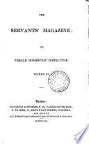 The Servants  magazine  or Female domestics  instructor Book PDF