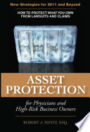Asset Protection For Physicians And High Risk Business Owners