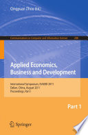 Applied Economics  Business and Development Book