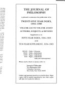 The Journal of Philosophy Book