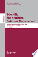 Scientific And Statistical Database Management Book PDF