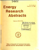 Energy Research Abstracts Book PDF