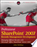 Professional SharePoint 2007 Records Management Development Book