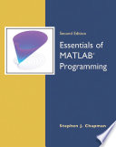 Essentials Of Matlab Programming Book PDF