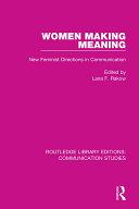 Pdf Women Making Meaning