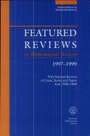 Featured Reviews in Mathematical Reviews 1997-1999