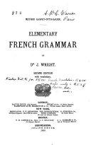Elementary French Grammar