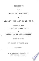 Elements of the English Language  Or  Analytical Orthography