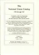 National Union Catalog Book
