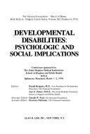 Developmental Disabilities--Psychologic and Social Implications