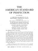 The American Standard of Perfection Illustrated