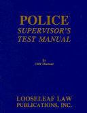 Police Supervisor s Test Manual