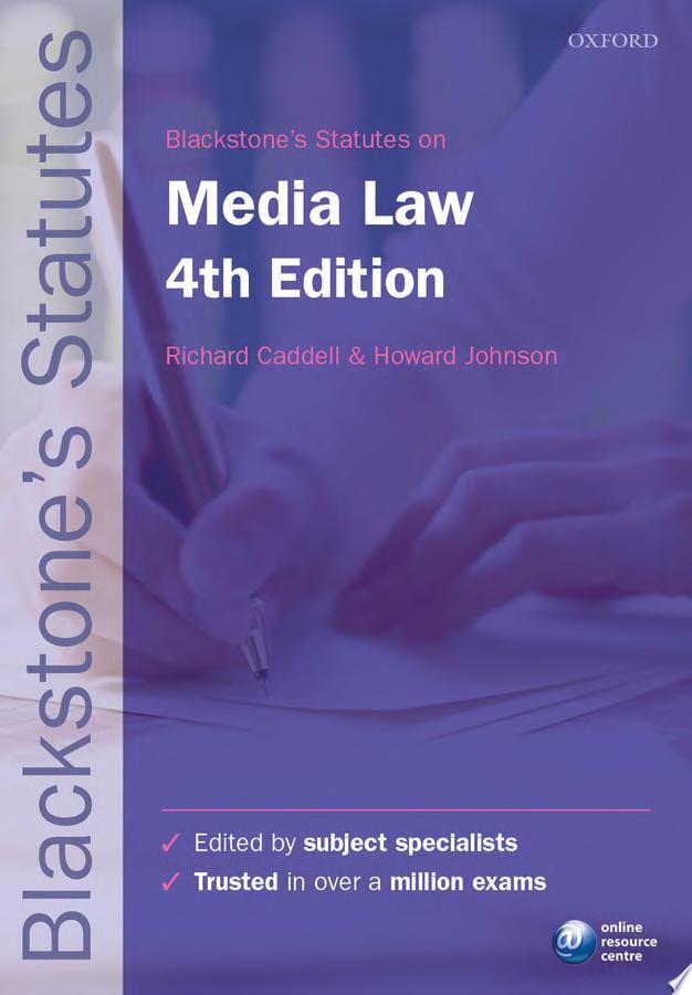 Blackstone s Statutes on Media Law