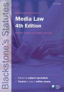 Blackstone's Statutes on Media Law