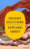 Pdf Desert Solitaire Telecharger