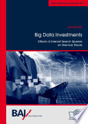 Big Data Investments  Effects of Internet Search Queries on German Stocks Book