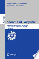 Speech And Computer