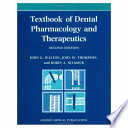 Textbook of Dental Pharmacology and Therapeutics