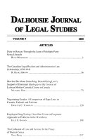 Dalhousie Journal Of Legal Studies
