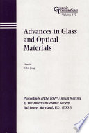 Advances in Glass and Optical Materials